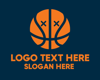 Hoop - Dead Basketball Ball logo design