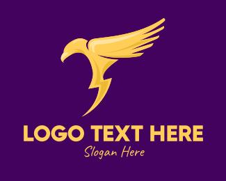 Electrical - Golden Thunder Bird logo design