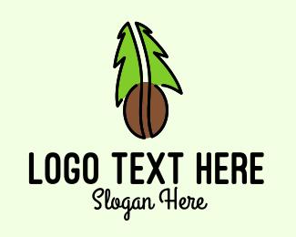 Tree - Organic Coffee Bean logo design