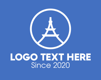 Structural - Eiffel Tower Letter A logo design