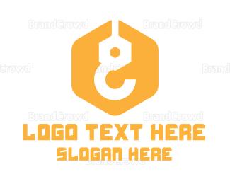 Build - Yellow Construction Hook logo design