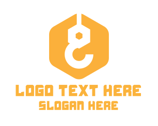 Yellow Construction Hook Logo