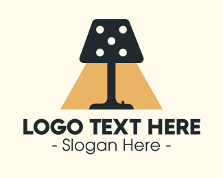 How - Dice Lamp logo design