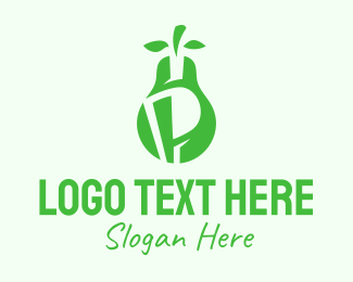 Farm Produce - Green Pear Letter P  logo design