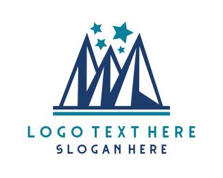 Glacier - Blue Ice Peaks logo design