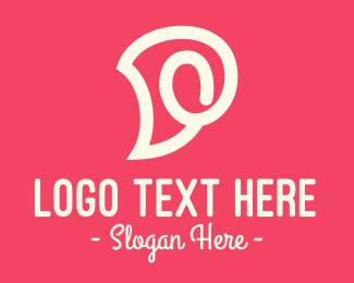 Trendy - Pink Swirly Letter D logo design