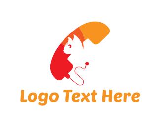Telephone - Cat Phone logo design