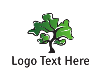 Bonsai - Green Tree logo design