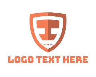 Letter I - Shield Letter I logo design