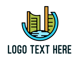Modern - Modern City Badge logo design
