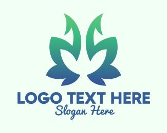 Natural Product - Green Gradient Plant logo design