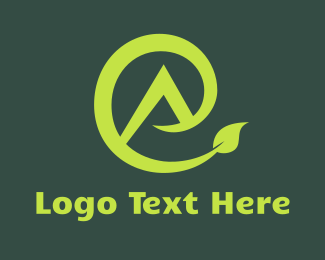 Vegetarian - Eco E & A logo design