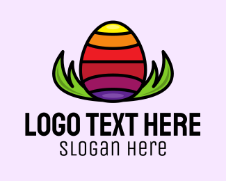 Lgbti - Rainbow Easter Egg logo design