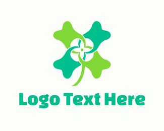 Four Leaf Clover - Tooth Clover logo design