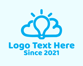 Think Tank - Cloud Light Bulb logo design