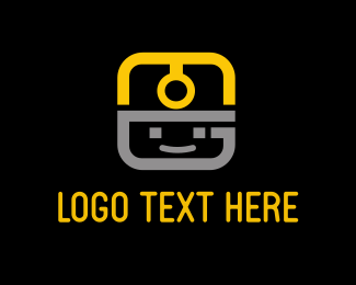 Mine - Face App Light Helmet logo design