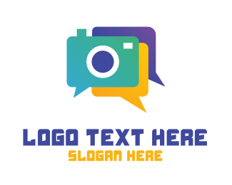 Video Chat - Colorful Camera Chat logo design