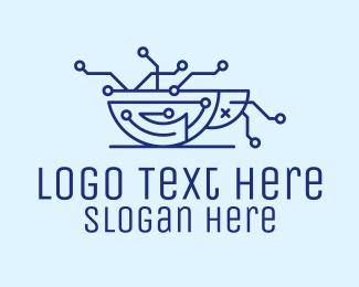 System - Dead Bug Circuit logo design