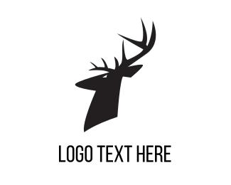 Reindeer - Antler logo design