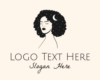 Nude - Pretty Woman Parlor logo design