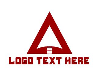 Spear - Red Arrowhead logo design
