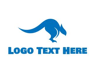 Australian - Blue Kangaroo logo design