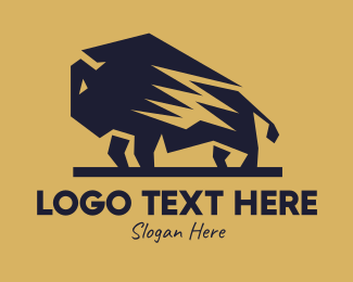 Bullfight - Big Bull Wildebeest logo design