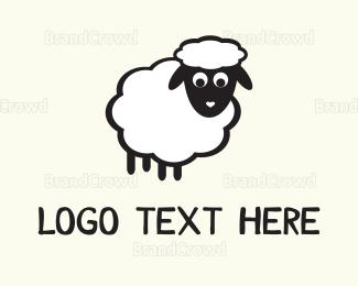 Lamb - White Sheep logo design