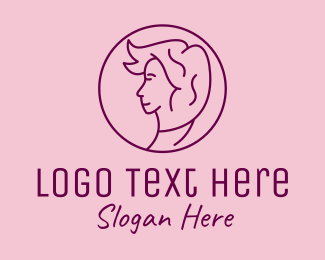 Facial - Minimalist Salon Woman logo design