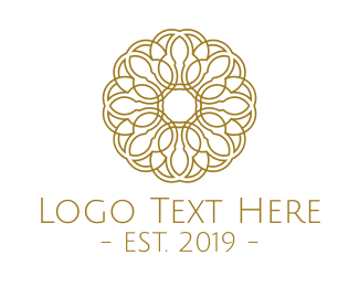Quality - Gold Flower logo design