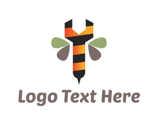 Reparation - Bee Wrench logo design