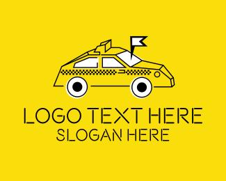 Taxi - Taxi Service Locator logo design