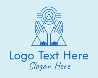 Hands - Energy Healing Hands logo design