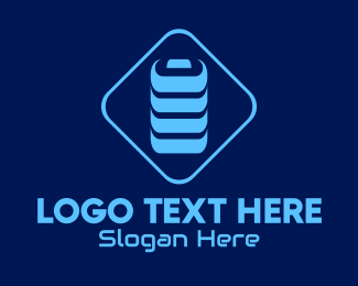 Charger - Blue Battery Charge logo design