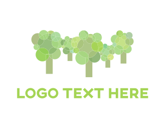 Retro - Rounded Green Forest logo design