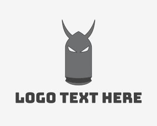 Horns - Bullet Horns Mask Eyes logo design