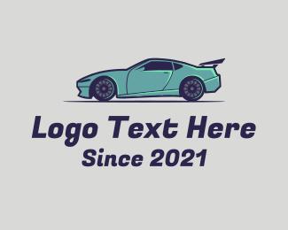 Car Bodyshop - Fast Sports Car  logo design