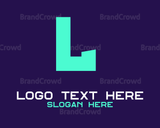 Computing - Blue Neon Text logo design