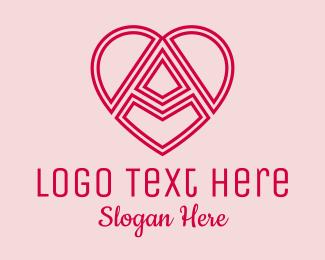 Beauty - Heart Outline Letter A  logo design