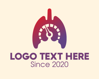 Fullspeed - Gradient Lungs Speedometer logo design