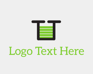 Best - Green U Battery Charge logo design