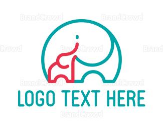 Learning Center - Elephant Mom logo design