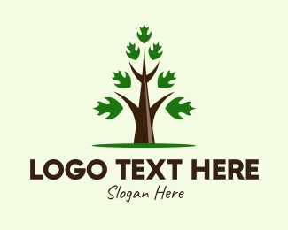 Nature Preservation - Growing Eco Tree  logo design