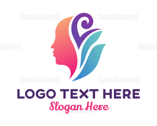 Beautician - Abstract Herbal Spa logo design