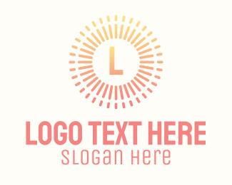 Burst - Gradient Solar Energy Letter logo design