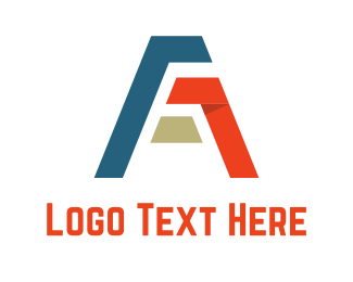 Aviation - Ribbon Letter A logo design
