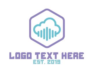 Channel - Cloud Hexagon logo design
