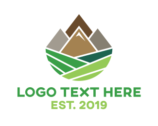 Geometric Valley Logo Maker