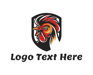 Hen - Rooster Head logo design
