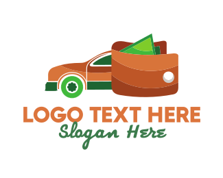 Car - Wallet Car logo design